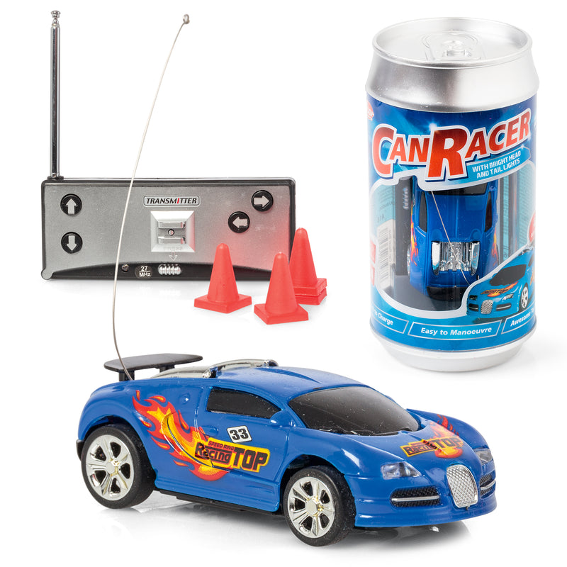 Zoom Remote Control Can Racer Blue