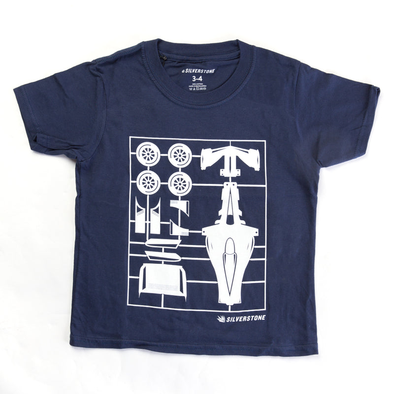 Child's Car Kit Tee Shirt - Navy