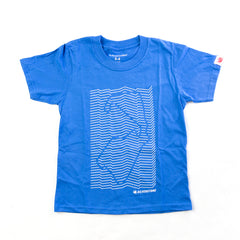 Child's Wave Tee Shirt Blue