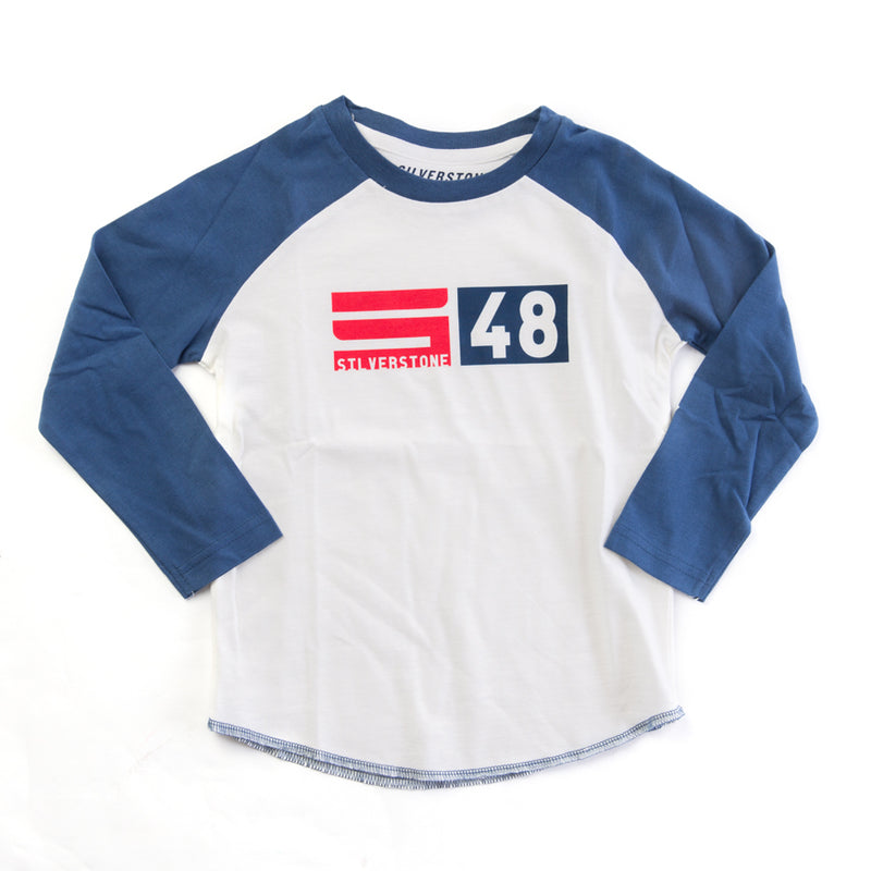 Child's Base Logo L/S Tee Shirt - Navy