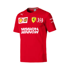 Ferrari Replica Men's Team Tee Shirt - Red 2019
