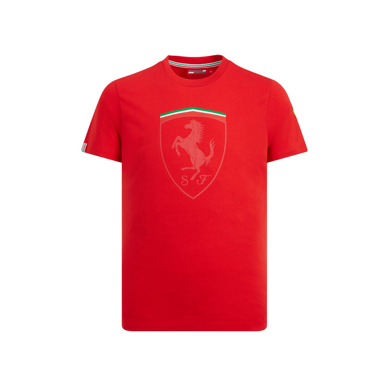 Ferrari Fan wear Men's Mono Shield Tee Shirt - Red