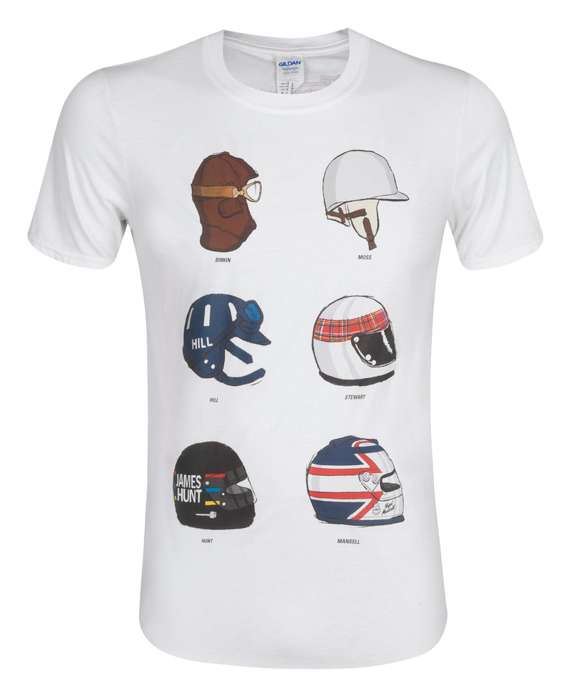 Silverstone Child's White Helmet T-Shirt