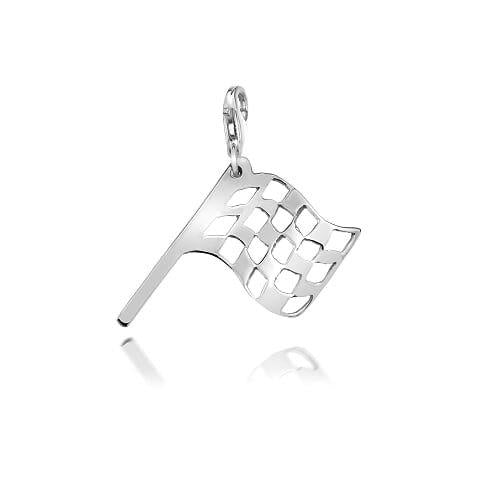 Iconic Flag Charm in Sterling Silver