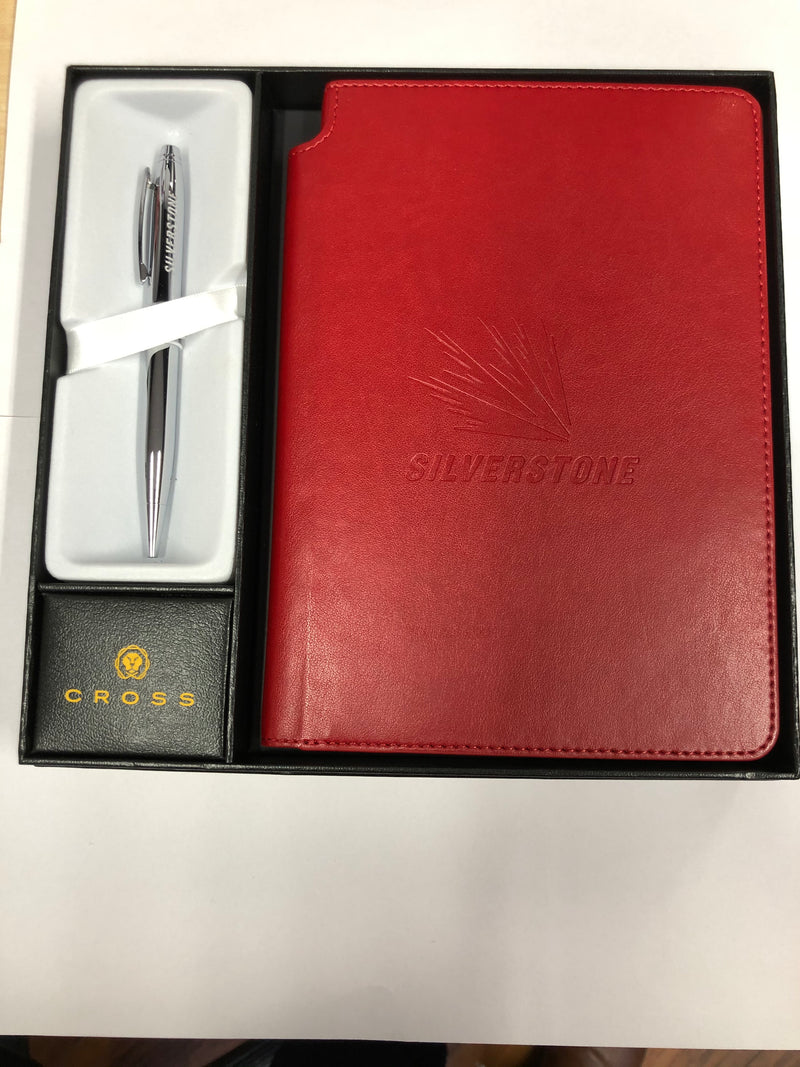 Cross Dual Branded Notebook & Pen - Red