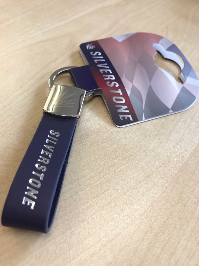 Silverstone Leather Strap Keyring