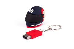 USB Helmet Design on a keyring