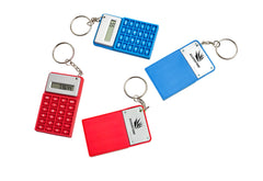 Rubber Calculator Keyring