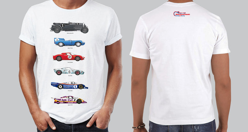 Unisex Silverstone Classic White Car T-Shirt