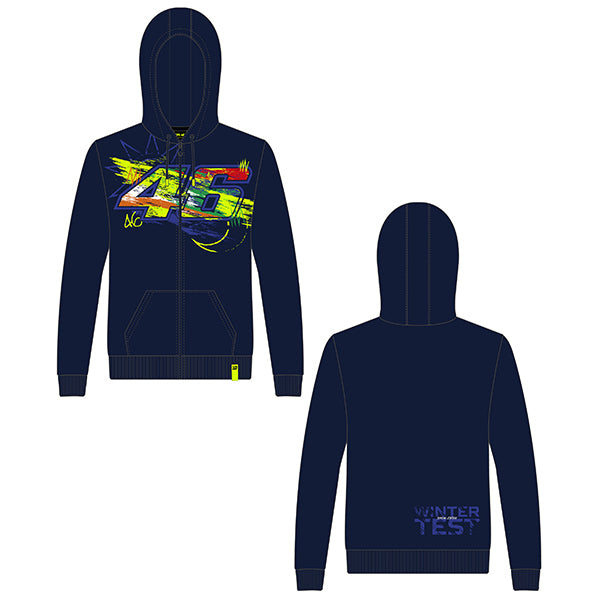 VR46 Full Zip Winter Hooded Top Men's 2020