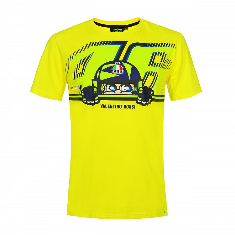 VR46 Cupolino Mens Tee - VRMT350601 Yellow - Only S/M Available