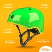 Micro Child's Helmet - Green