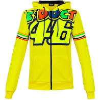 VR46 Women's Hooded Top - Yellow
