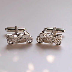 Sterling Silver Motorbike Cuff-links