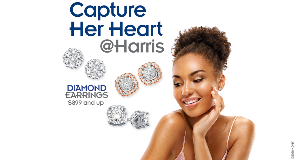 Capture Her Heart at Harris, Diamond Earrings $599 and up