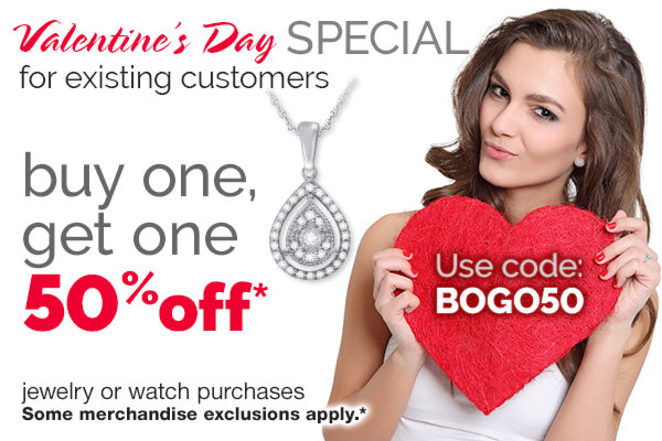 Valentine's Day SPECIAL for existing customer, buy one, get one 50% off