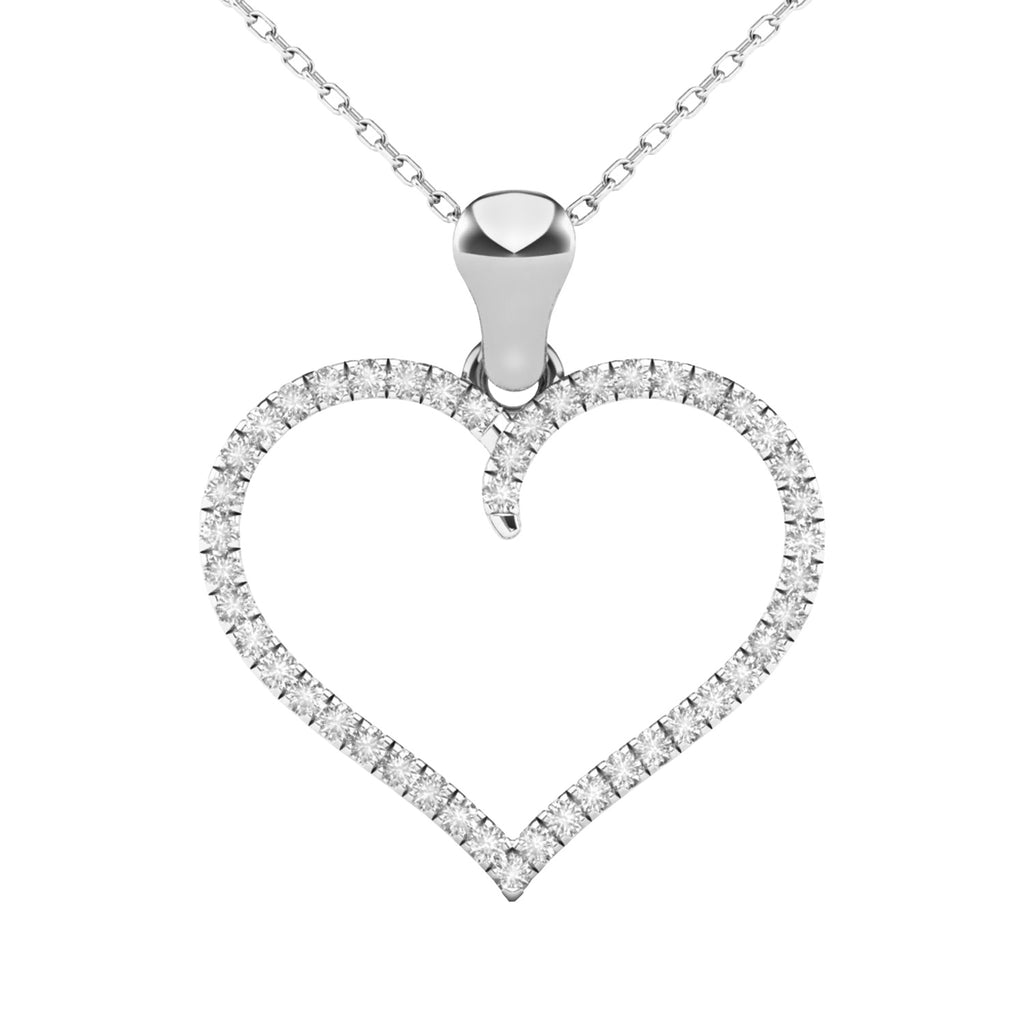 Diamond heart ladies pendant