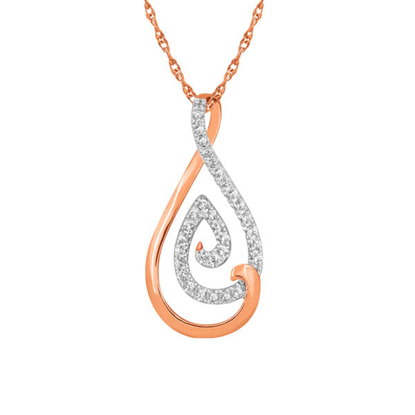 Diamond Teardrop Pendant