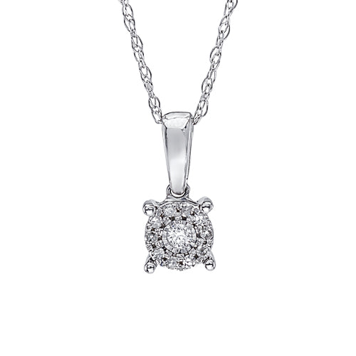 Multi diamond accent pendant