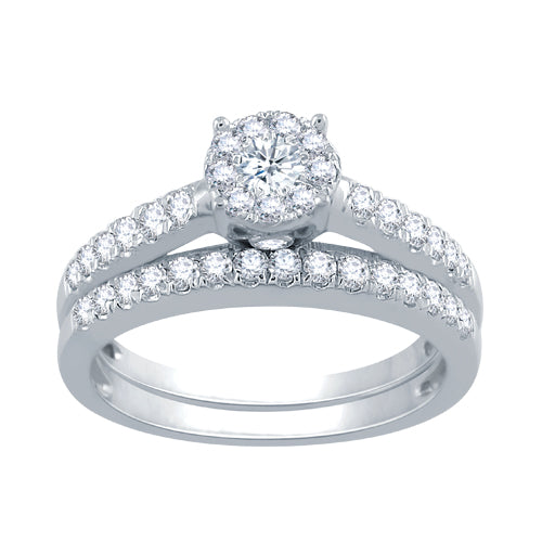 Multi diamond bridal set