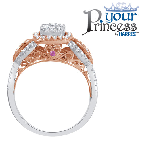 Your Princess ™ framed multi diamond bridal set
