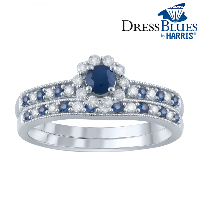 Dress Blues® Diamond and Blue Sapphire set