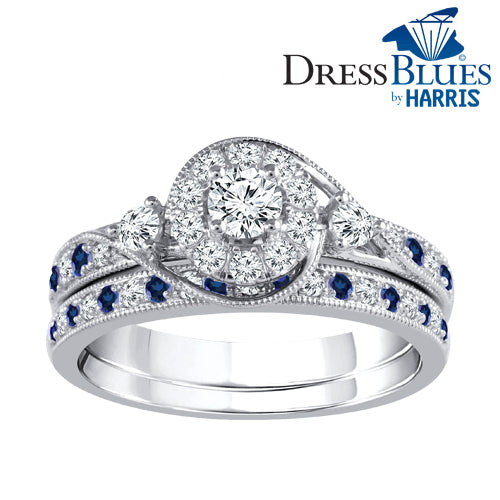 Dress Blues®Diamond swirl bridal set