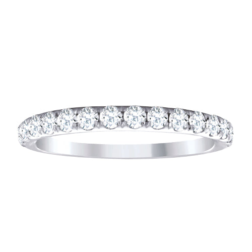 White gold with diamonds ladies wedding band