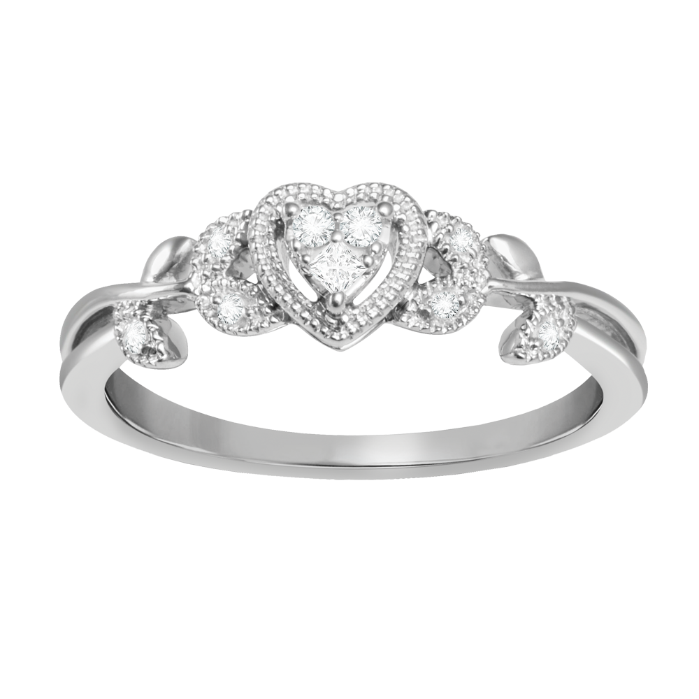 Diamond accent heart ring