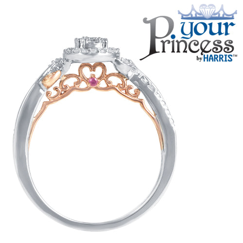 Oval framed multi diamond promise ring