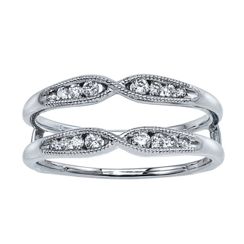 Diamonds and white gold insert band