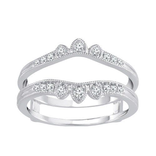 Diamond tiara white gold insert band