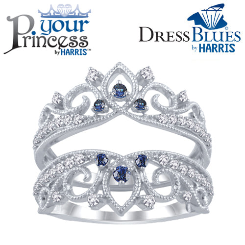 Dress Blues® diamond and blue sapphire tiara insert
