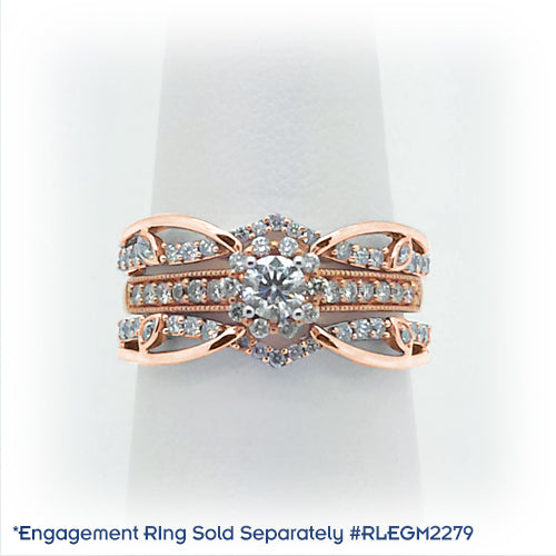 Diamonds and rose gold insert band