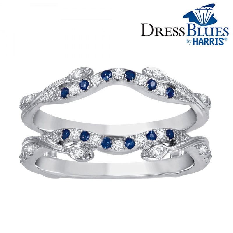 Dress Blues® diamond and blue sapphire insert