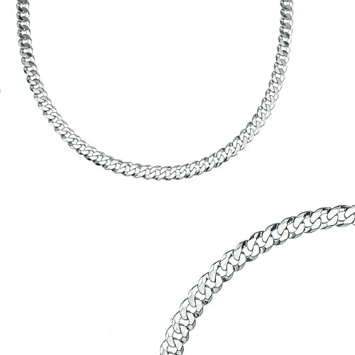 22 inch diamond cut curb chain