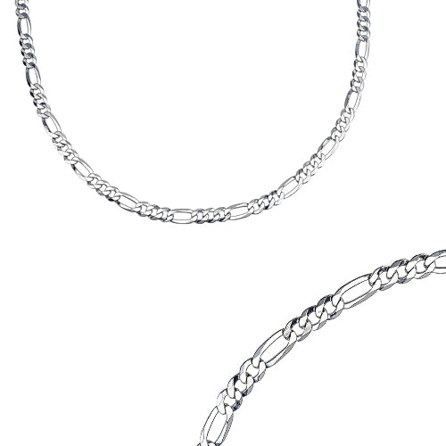 22 inch diamond cut Figaro chain