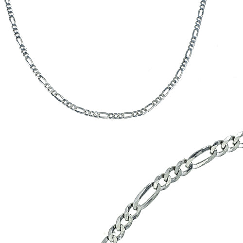 24 inch diamond cut Figaro chain