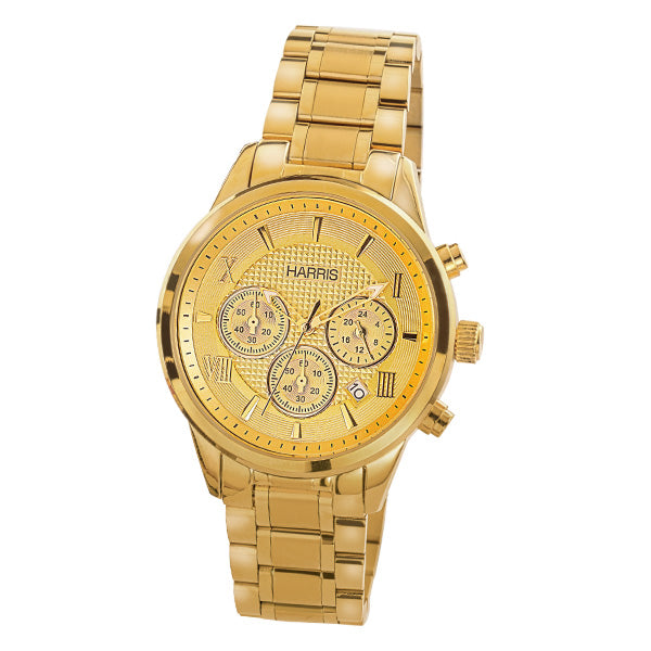 Men's Harris ion plated stainless steel chronograph watch