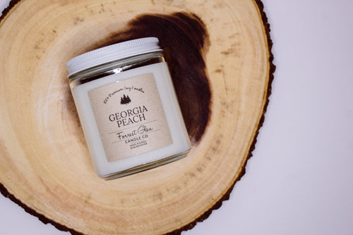 georgia peach soy candle