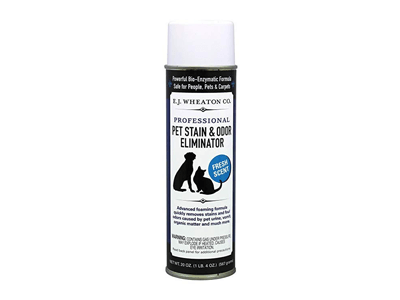 E.J. Wheaton Co. Pet Stain & Odor Eliminator, Professional Strength Enzyme Cleaner for Dog and Cat Urine and More, Large Aerosol Spray, 20 Oz. Can