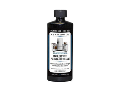 E.J. Wheaton Co. Stainless Steel Polish & Protectant: Cleans, Polishes & Protects All Stainless Steel and Metal Surfaces