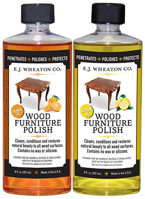 E.J. Wheaton Co. Lemon Oil Wood Furniture Polish, Cleans, Conditions and Restores Natural Beauty to All Wood Surfaces