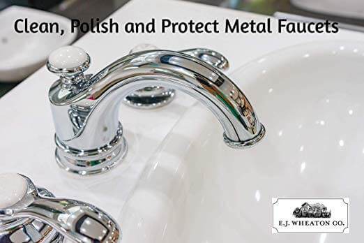 E.J. Wheaton Co. Professional Faucet Polish, Cleans, Shines and Protects All Metal Surfaces, Made in USA