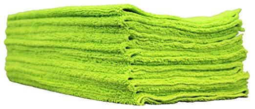 E.J. Wheaton Co. Microfiber Towels, Pack of 12, Edgeless, 400 GSM, Dual-Pile, Extra Soft, 16 in. x 16 in.