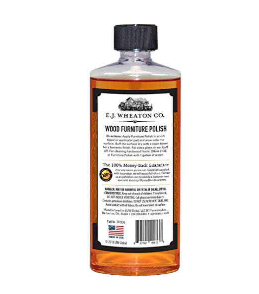 E.J. Wheaton Co. Lemon Oil & Orange Oil Wood Furniture Polish Combo Pack, Cleans, Conditions and Restores Natural Beauty to All Wood Surfaces