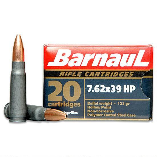 Barnaul 7.62x39 Hollow  point 123gr