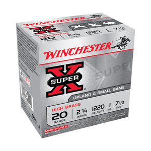 WINCHESTER SUPER-X HIGH BRASS GAME, 20 GA, 2-3/4''(Disponible en magasin seulement)