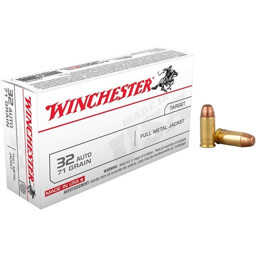 Winchester .32 ACP 71 Grain Full Metal Jacket