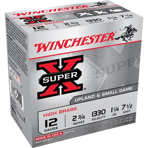 WINCHESTER SUPER-X HIGH BRASS 12 2-3/4 1-1/4 OZ (Disponible en magasin seulement)